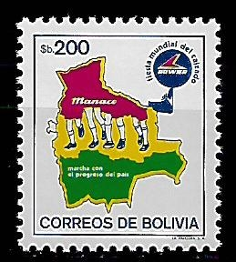 Bolívie N Mi 1022